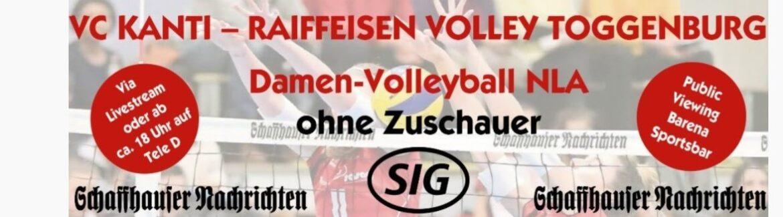 VC Kanti Schaffhausen überträgt das heute NLA-Spiel im Internet