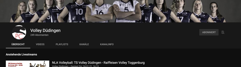 Livestream vom Spiel TS Volley Düdingen – Raiffeisen Volley Toggenburg