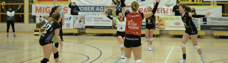Raiffeisen Volley Toggenburg schafft den Einzug in die Playoffs der besten 8 Teams der Schweiz!!!